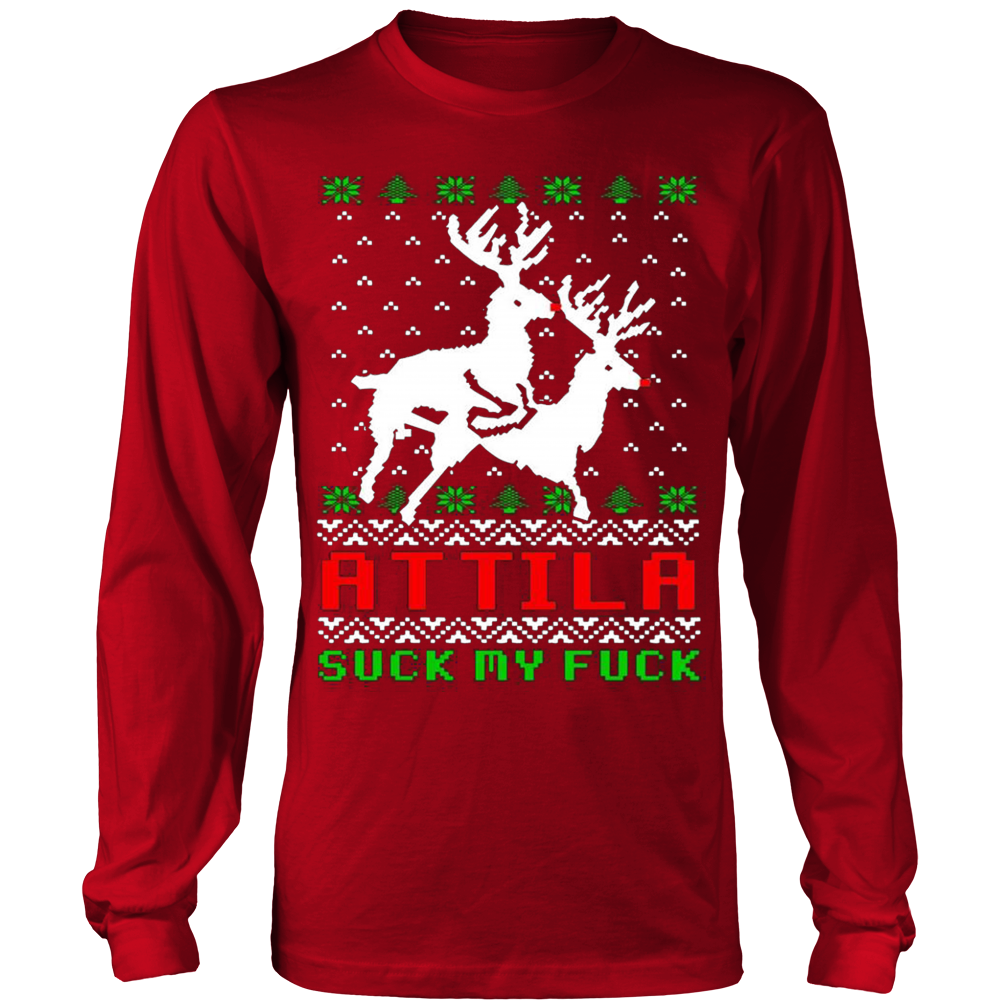 Attila Ugly Christmas Sweater Hoodie – Vietees Shop Online