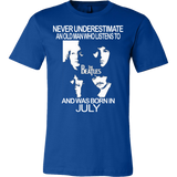 Never Underestimate an Old Man who Listens to the Beatles and was born in July T-shirt - Vietees Shop Online