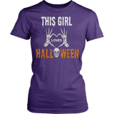 This girl loves halloween T-shirt - Vietees Shop Online