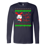 Doxie: Santa's Little Helper Ugly Christmas Sweatshirt - Vietees Shop Online