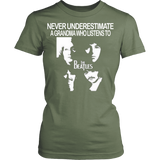 Never Underestimate a Grandma who listens to the Beatles T-shirt - Vietees Shop Online