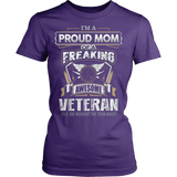 I'M A PROUD MOM OF A FREAKING AWESOME VETERAN - Vietees Shop Online