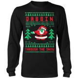 Dabbin Through The Snow Ugly Christmas Sweatshirt - Vietees Shop Online
