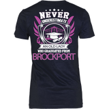 Never Underestimate an Old Lady who graduated from Brockport T-shirt - Vietees Shop Online