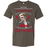Never Underestimate A Woman Who Listens To David Bowie And Was Born In September T-shirt - Vietees Shop Online
