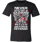 Never Underestimate Air Force Veteran - Vietees Shop Online