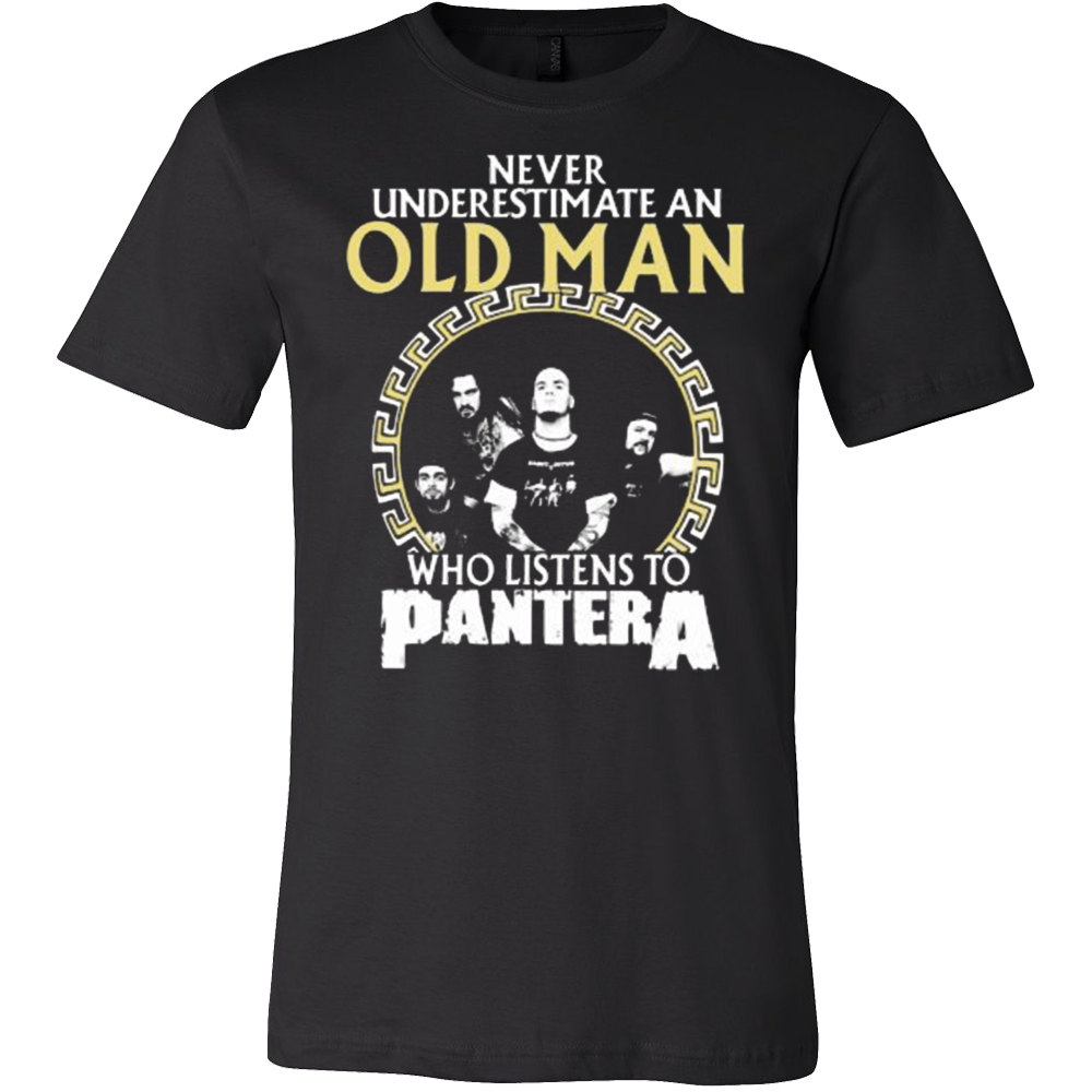 Never Underestimate an Old Man who listens to PANTERA T-shirt - Vietees Shop Online