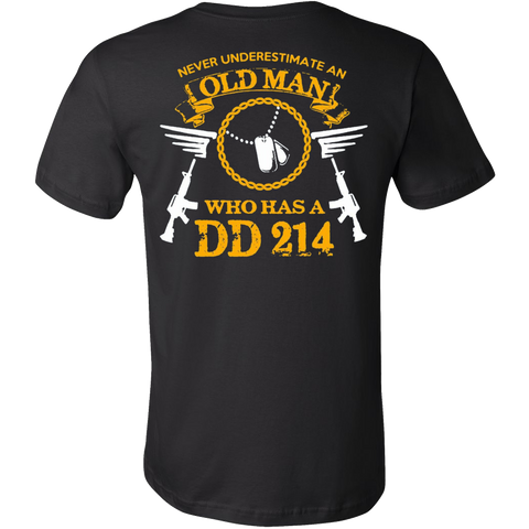 Never Underestimate an Old Man who has DD 214 T-shirt - Vietees Shop Online