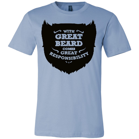 With Great Beard Comes Great Responsibility Funny T-Shirt - Vietees Shop Online