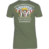 Never Underestimate a Grandmother that listens to Aerosmith T-shirt - Vietees Shop Online