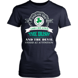 GOD CREATED IRISH T-SHIRT - Vietees Shop Online