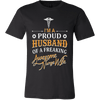 Image of I'm a Proud Husband Of A Freaking Awesome Nurse Wife - Vietees Shop Online