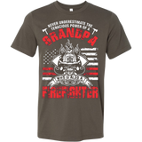 NEVER UNDERESTIMATE THE TENACIOUS POWER OF A GRANDPA WHO IS ALSO A FIREFIGHTER - Vietees Shop Online