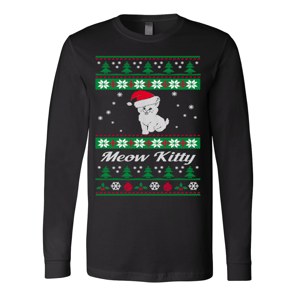 Meow Kitty Ugly Christmas Sweater – Vietees Shop Online