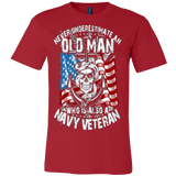 Never Underestimate Navy Veteran - Vietees Shop Online