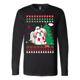 Christmas Ugly Sweater - SHIH TZU DOG - Vietees Shop Online - 1