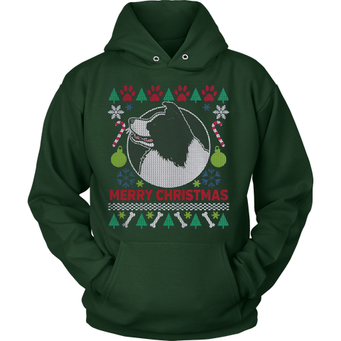 Border Collie Dog Breed Ugly Christmas Sweater Hoodie - Vietees Shop Online - 1