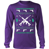 Assault Rifle Ugly Christmas Sweatshirt - Vietees Shop Online - 14