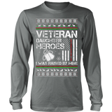 VETERAN DAUGHTER UGLY CHRISTMAS SWEATSHIRT - Vietees Shop Online - 10