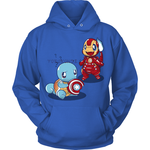 Pokemon Charmander Squirtle Civil War Hoodie - Vietees Shop Online - 1