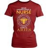 Image of Never Underestimate A Nurse Born As Aries - Vietees Shop Online