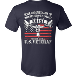 Never underestimate the tremendous skill of a nurse who is also a us veteran t shirt - Vietees Shop Online
