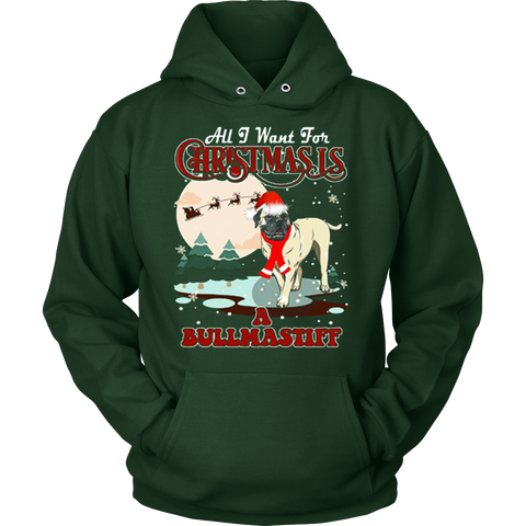 Bullmastiff Ugly Christmas Sweater Hoodie - Vietees Shop Online - 1