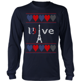 Peace and pray for paris ugly christmas sweater xmas - Vietees Shop Online