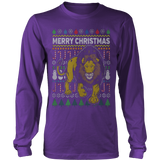 LION WILDLIFE UGLY CHRISTMAS SWEATER HOODIE - Vietees Shop Online