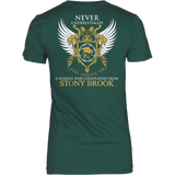 Never Underestimate the Power of a Woman who graduated from Stony Brook T-shirt - Vietees Shop Online