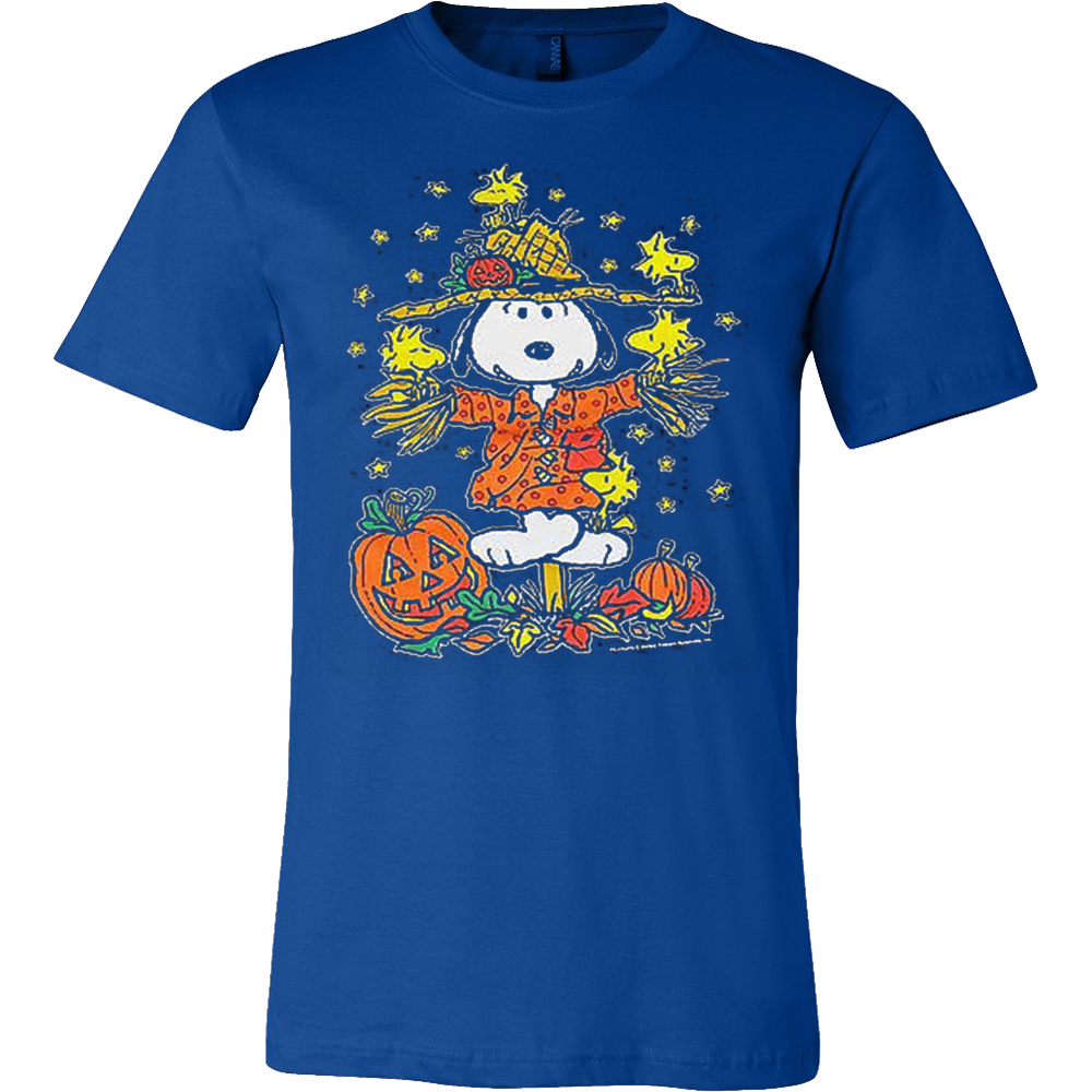 3df8567a8 Peanuts Halloween Snoopy Woodstock Scarecrow Great Pumpkin T Shirt ...