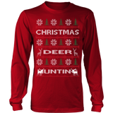 Chrismas deer hunting ugly sweater - Vietees Shop Online - 14