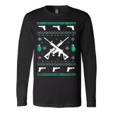 Assault Rifle Ugly Christmas Sweatshirt - Vietees Shop Online - 3