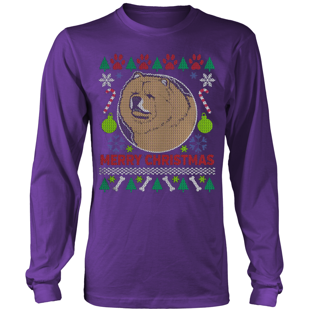 Chow Chow Dog Breed Ugly Christmas Sweater Hoodie - Vietees Shop Online - 12