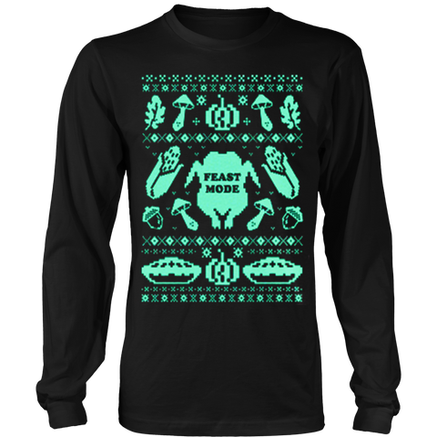 Feast Mode Thanksgiving Ugly Christmas Sweatshirt - Vietees Shop Online
