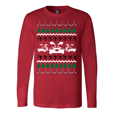 Back to the future ugly christmas sweater - Vietees Shop Online - 1