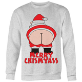 MERRY CHISMYASS KISS MY ASS ARSE FUNNY XMAS T SHIRT - Vietees Shop Online