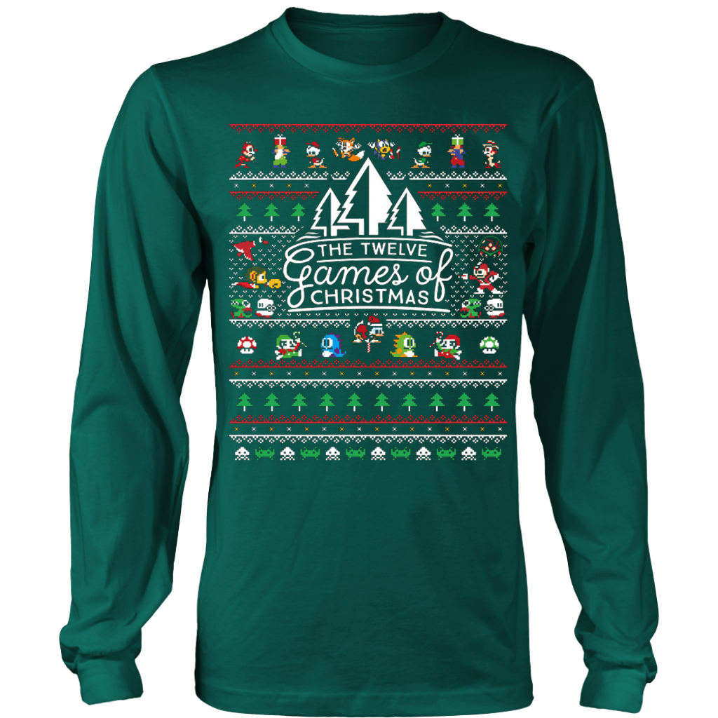 12 Games of Christmas Ugly Christmas Sweater T-shirt - Vietees Shop Online