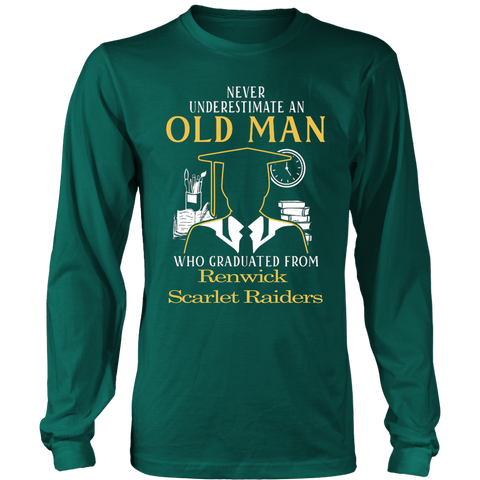 Never Underestimate an old man who graduated from Renwick Scarlet Raiders T-shirt - Vietees Shop Online