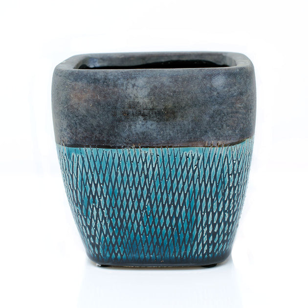 Square Glazed Pot
