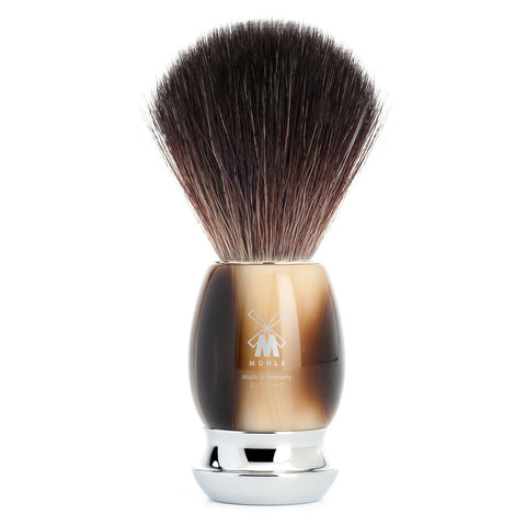 MÜHLE VIVO - Shaving Brush with Resin Horn Brown Handle