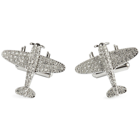 Simon Carter 25th Anniversary - Crystal Spitfire - Men's Luxury Cufflinks - Eloquent District