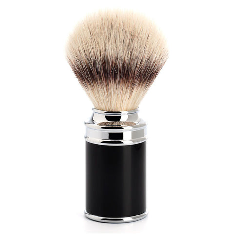 MÜHLE Traditional - Shaving Brush with Silvertip Fibre® and Resin Black Handle