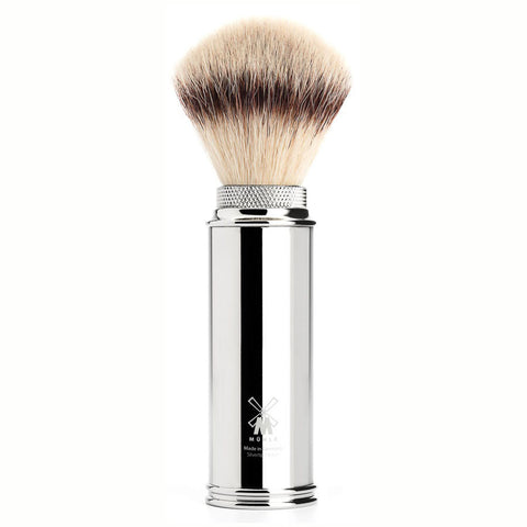 MÜHLE Travel - Shaving Brush with Silvertip Fibre® and Chrome-Plated Handle