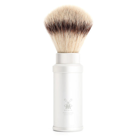 MÜHLE Travel - Shaving Brush with Silvertip Fibre® and Aluminum Handle