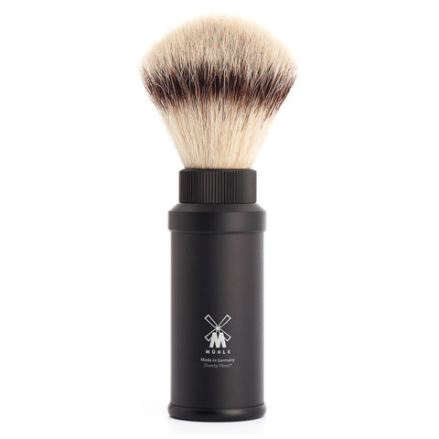 MÜHLE Travel - Shaving Brush with Silvertip Fibre® and Black Aluminium Handle