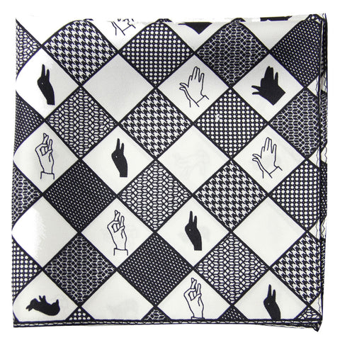 Lacquer Embassy Beltane Monochromatic - Trendy Pocket Square
