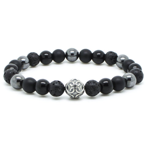 Handmade Chevalier Black Mirror - Men's Bracelet