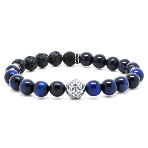 Handcrafted Chevalier Blue Galaxy - Men's Bracelet