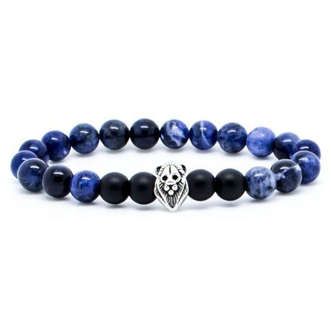 Handcrafted Chevalier Blue Lion - Men's Bracelet